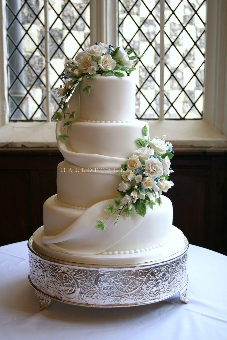 Pinterest Wedding Cakes  748 best White wedding cakes images on Pinterest