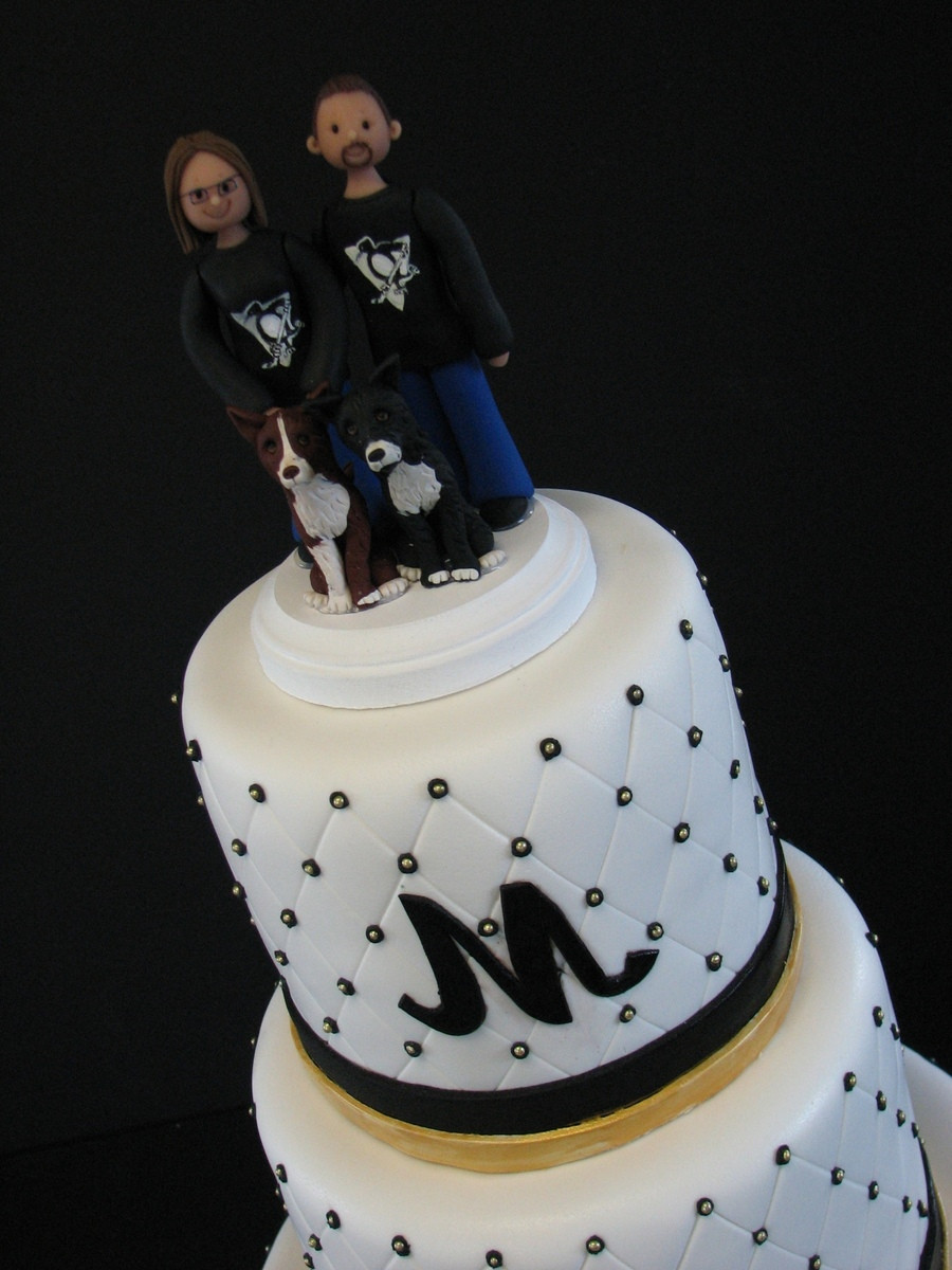 Pittsburgh Wedding Cakes  Pittsburgh Penguins Themed Wedding Cake CakeCentral