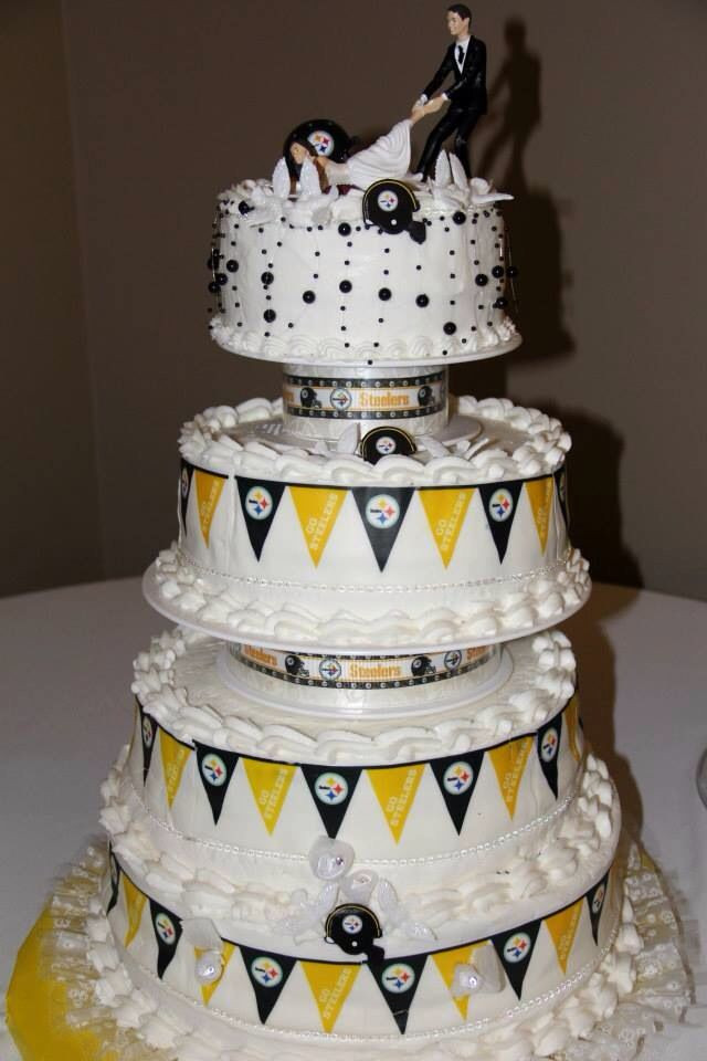 Pittsburgh Wedding Cakes  Steelers wedding cake