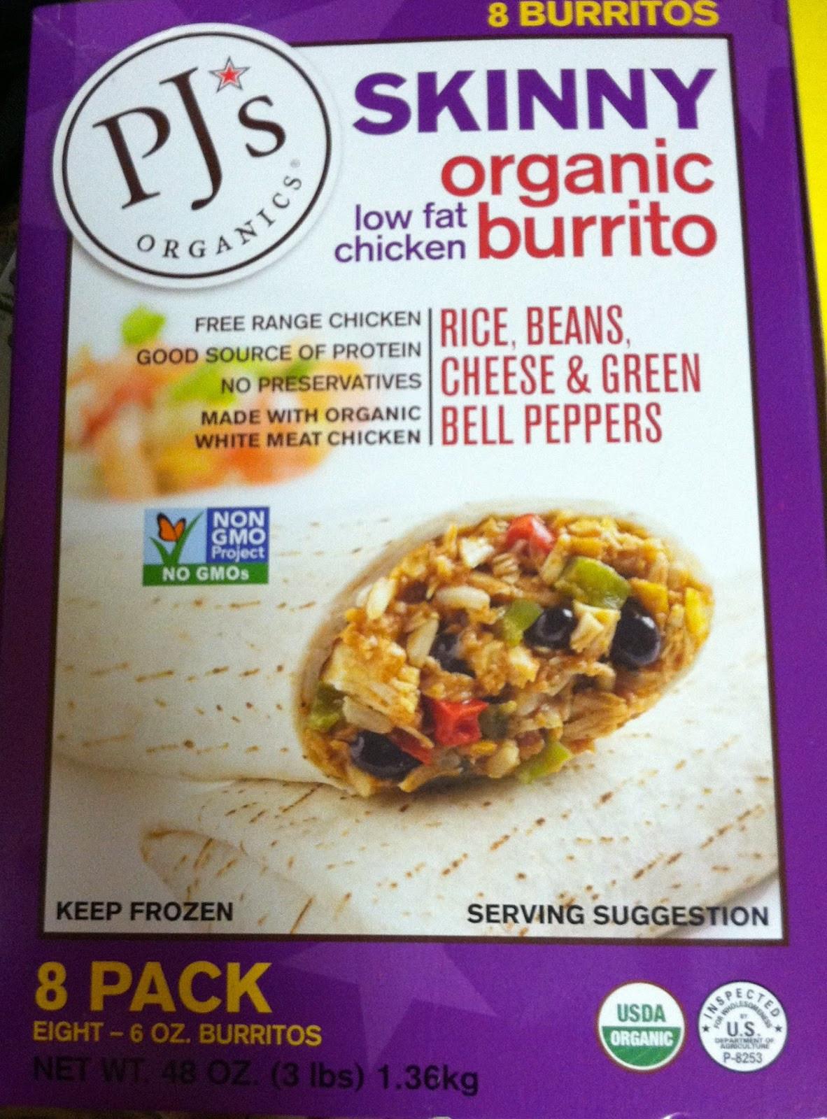 Pjs Organic Burritos  Julia s Re mendations PJ s Skinny Organic Burrito