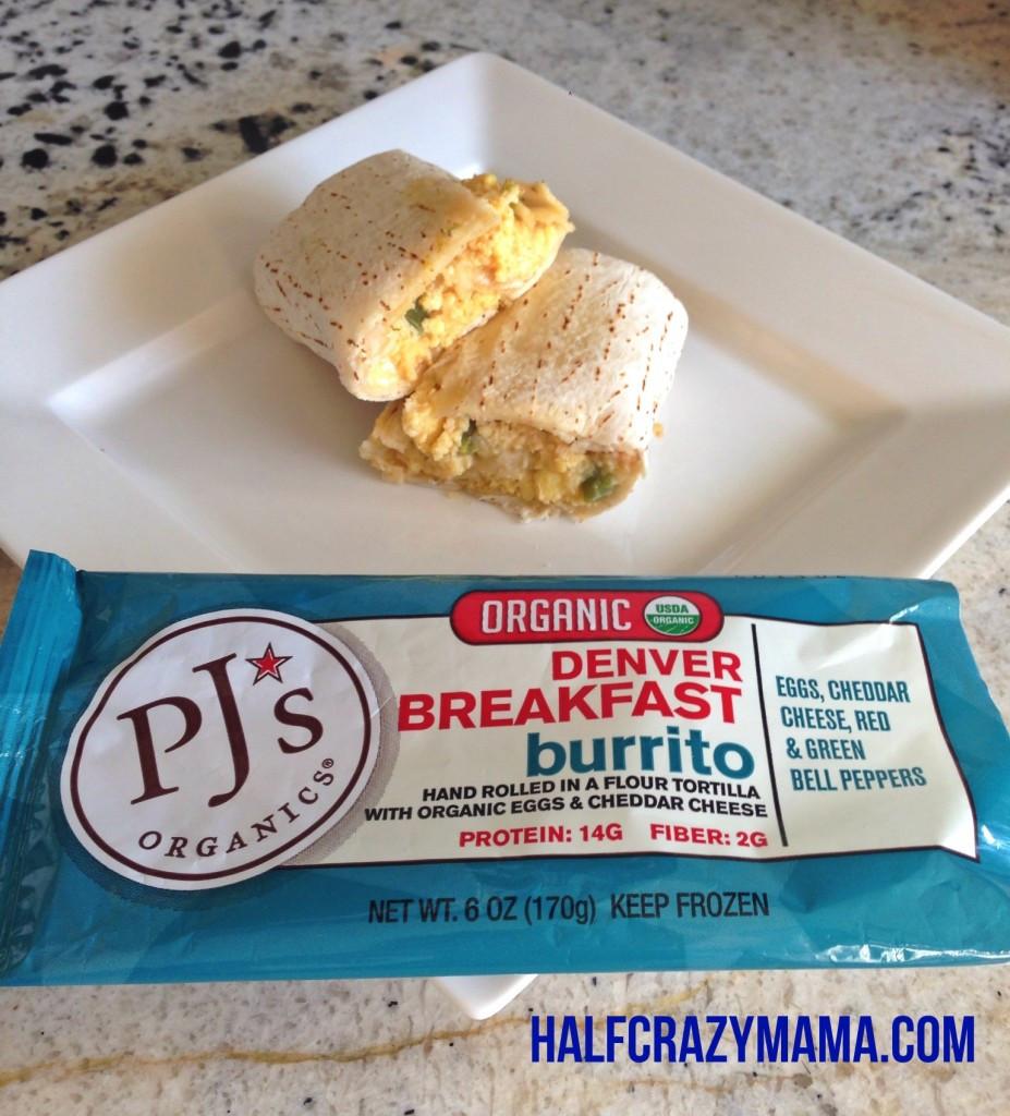 Pjs Organic Burritos  PJ s Organics Review and Giveaway • Half Crazy Mama