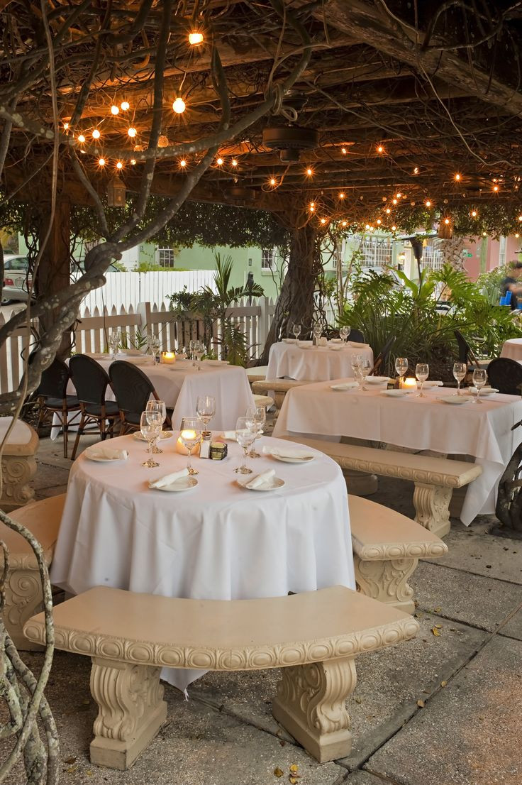 Places For Wedding Rehearsal Dinners  Lovely presentation under twinkling lights and a Jasmine