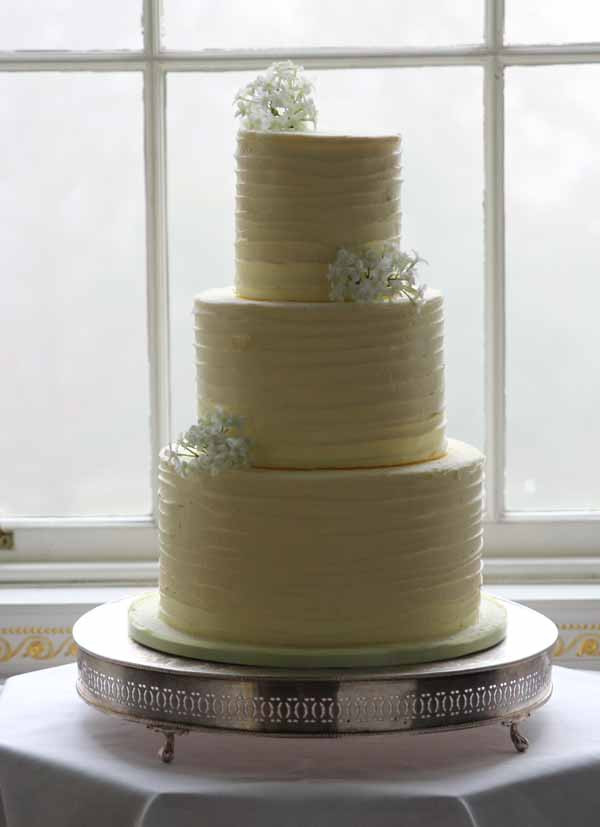 Plain White Wedding Cake  Floral Wedding Cake Decorations The Fairytale Pretty
