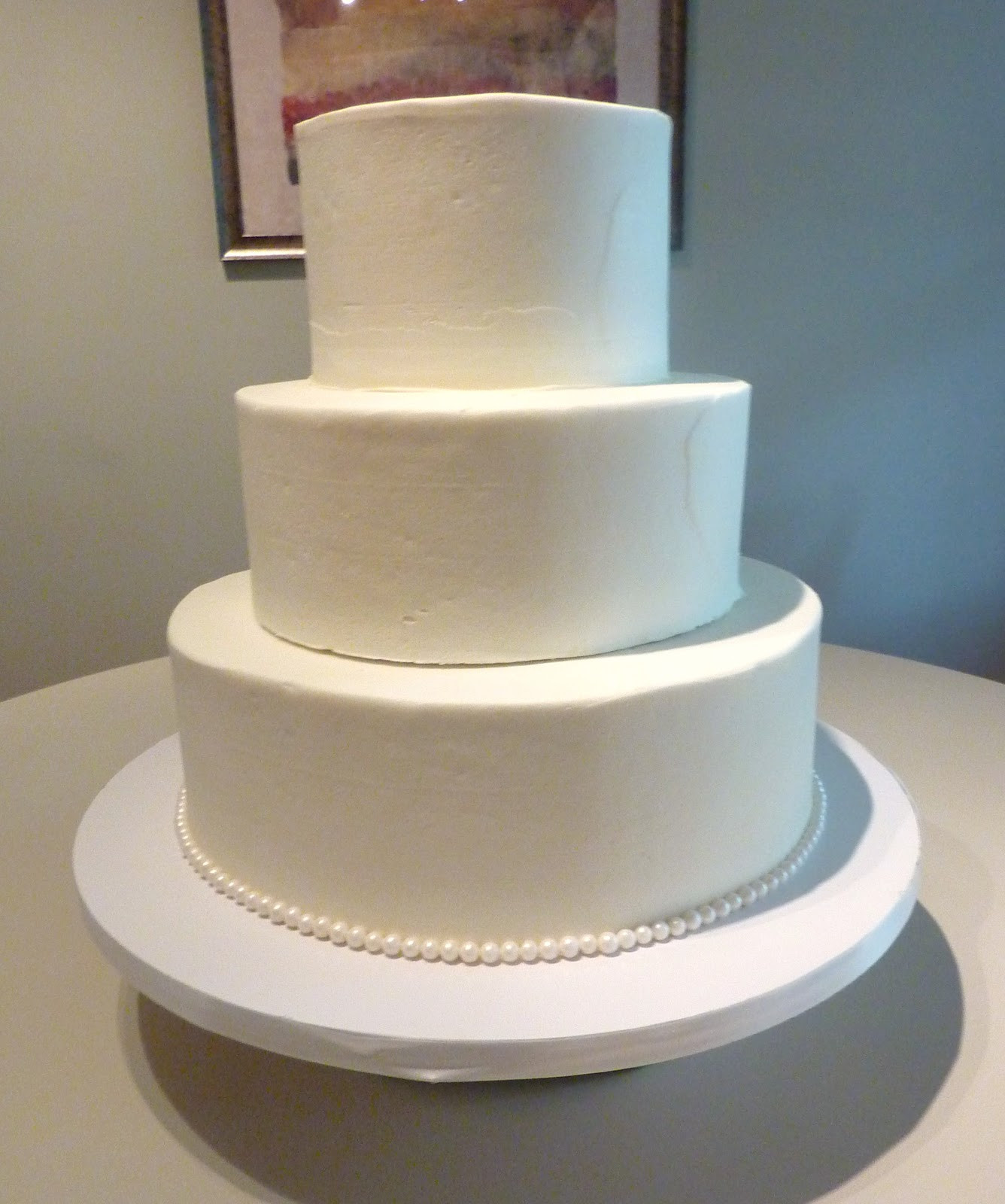 Plain White Wedding Cake  Plain white wedding cake idea in 2017
