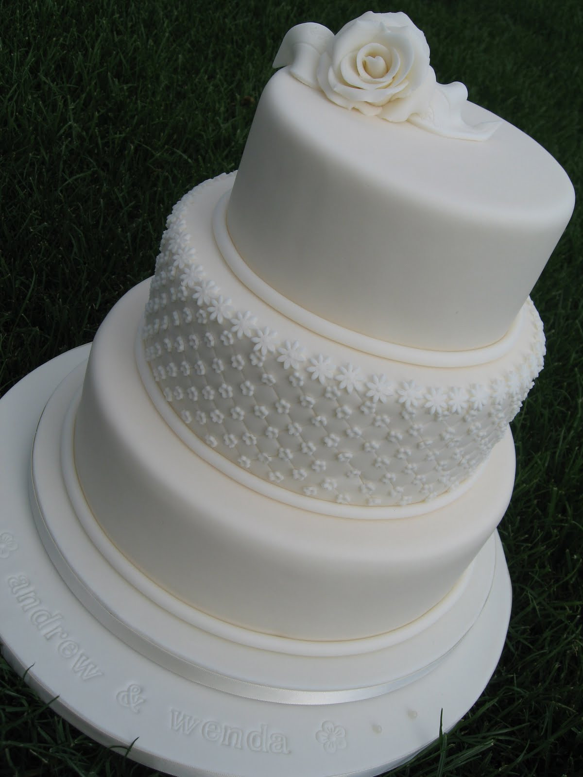 Plain White Wedding Cake  Simply Cakes