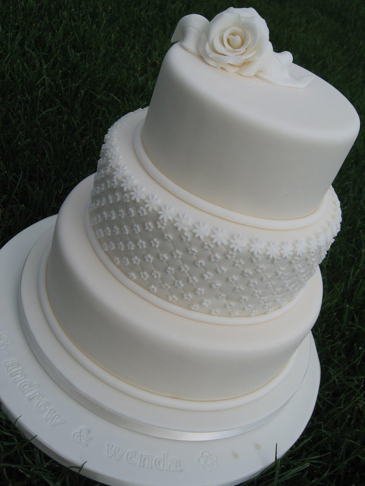 Plain White Wedding Cakes  Simply Cakes