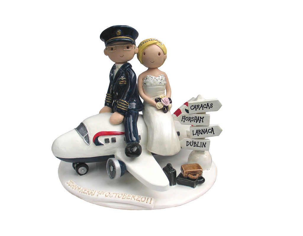 Plane Wedding Cakes  Airplane cake topper