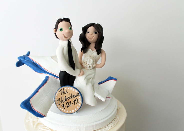 Plane Wedding Cakes  Airplane Wedding Cake Topper Wedding and Bridal Inspiration