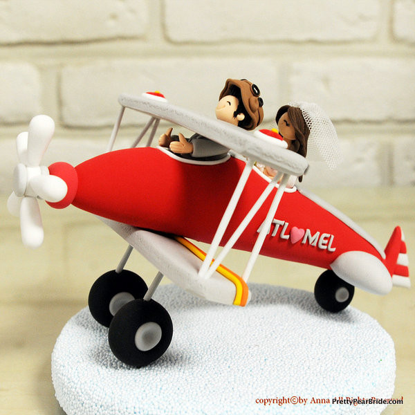 Plane Wedding Cakes  Etsy Spotlight Retro Aviation Wedding