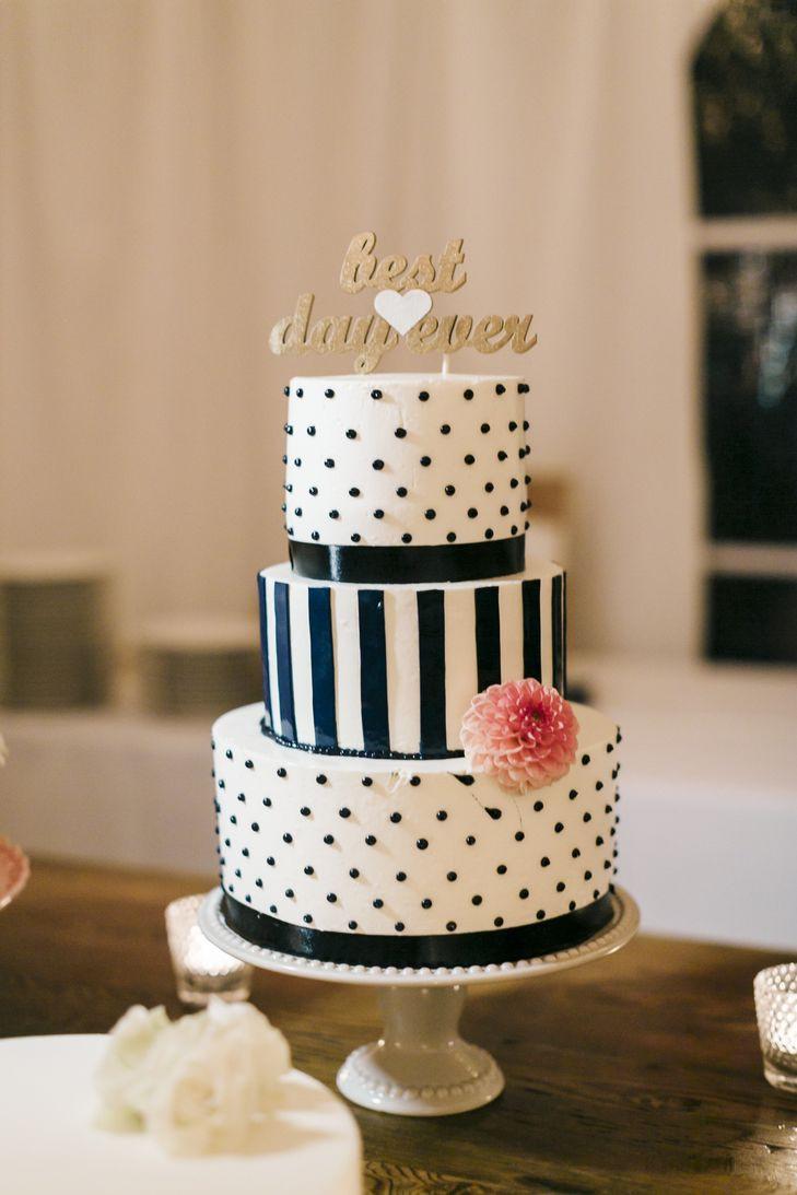 Polka Dots Wedding Cakes  Polka Dot and Stripe Wedding Cake