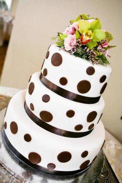 Polka Dotted Wedding Cakes  Gallery of Fall Wedding Cakes [Slideshow]