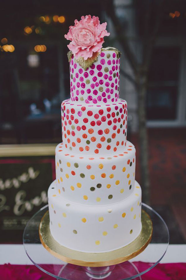 Polka Dotted Wedding Cakes  Polka Dot Wedding Cakes WedLoft