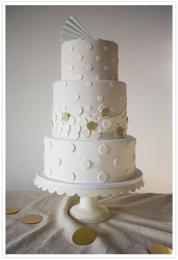 Polka Dotted Wedding Cakes  Modern wedding cakes Wedding Inspiration