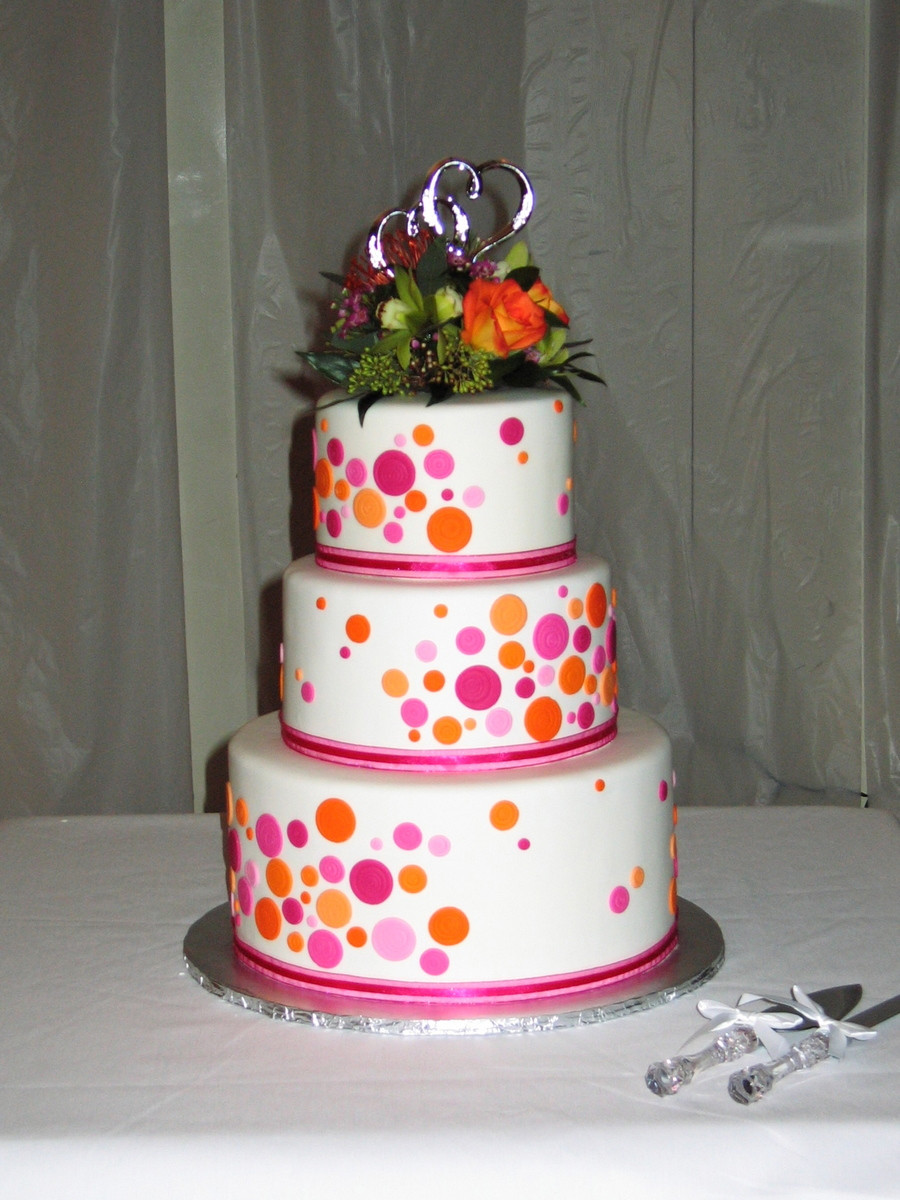 Polka Dotted Wedding Cakes  Polka Dot Wedding Cake CakeCentral