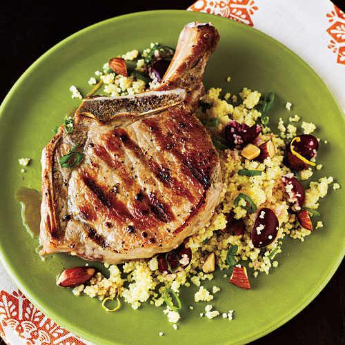 Pork Chops Recipe Healthy  Pork Chops with Cherry Couscous Healthy Pork Chop