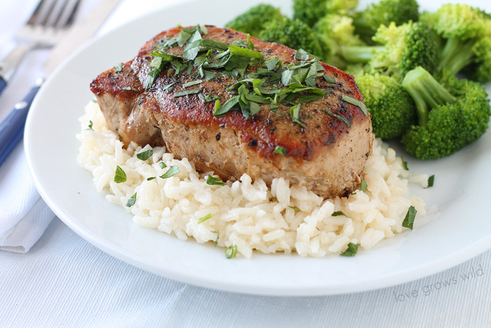Pork Chops Recipes Healthy  Herb Rubbed Pork Chops Love Grows Wild