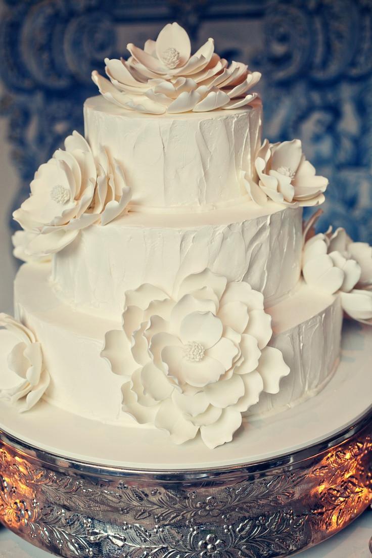 Portos Bakery Wedding Cakes  White magnolia wedding cake Porto s Bakery
