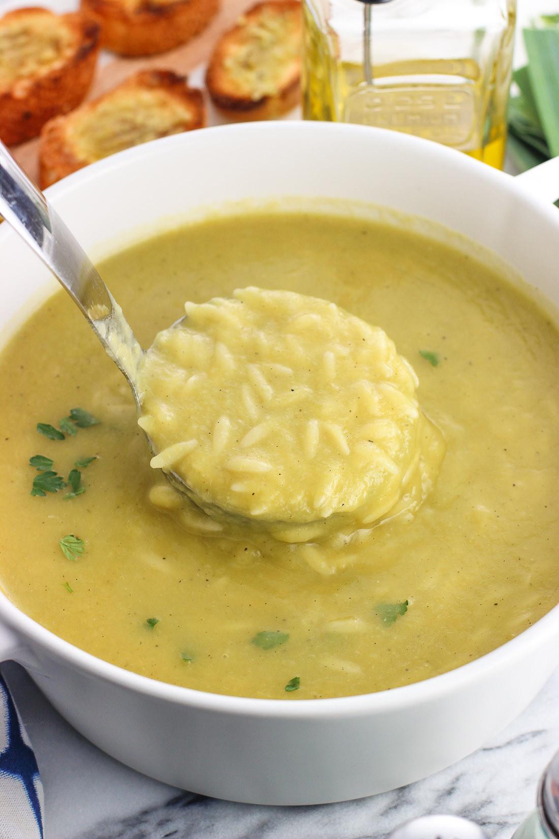 Potato Leek Soup Healthy  Healthy Potato Leek Soup with Orzo