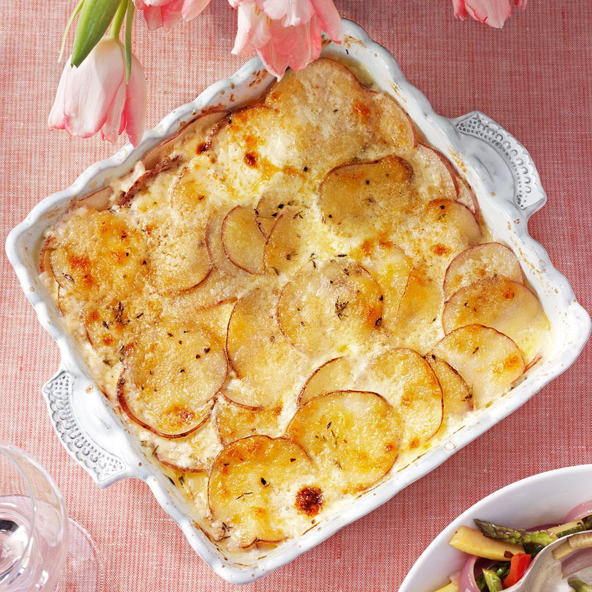 Potatoes Au Gratin Healthy  Parmesan Potatoes Au Gratin Recipe