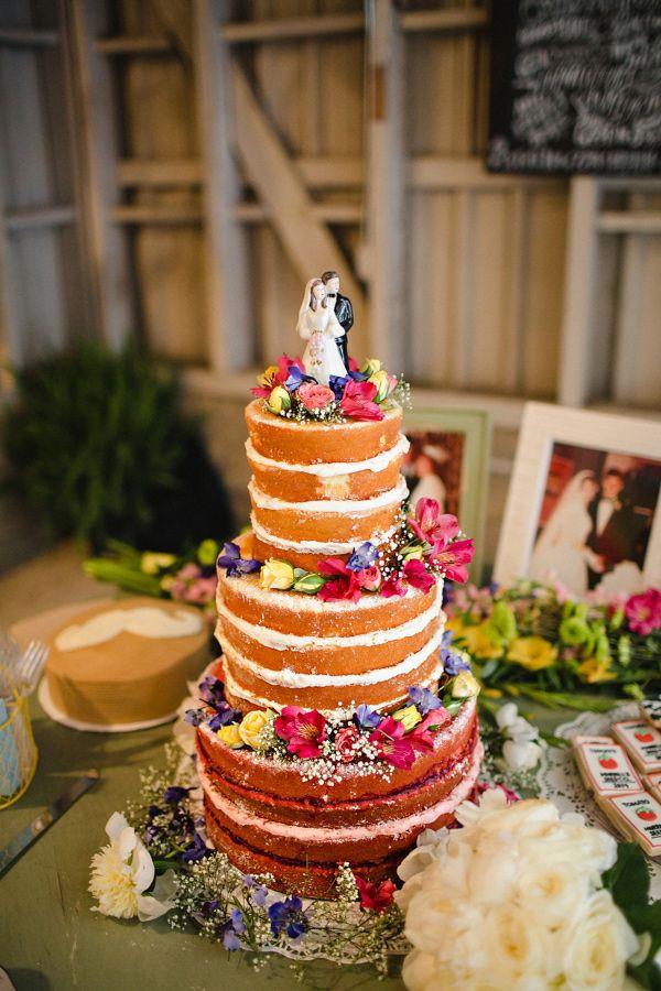 Pound Cake Wedding Cake  124 best Naked Cakes images on Pinterest