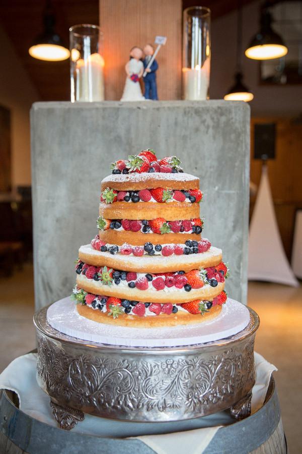 Pound Cake Wedding Cake  A wedding cake with pound cake tiers whipped cream