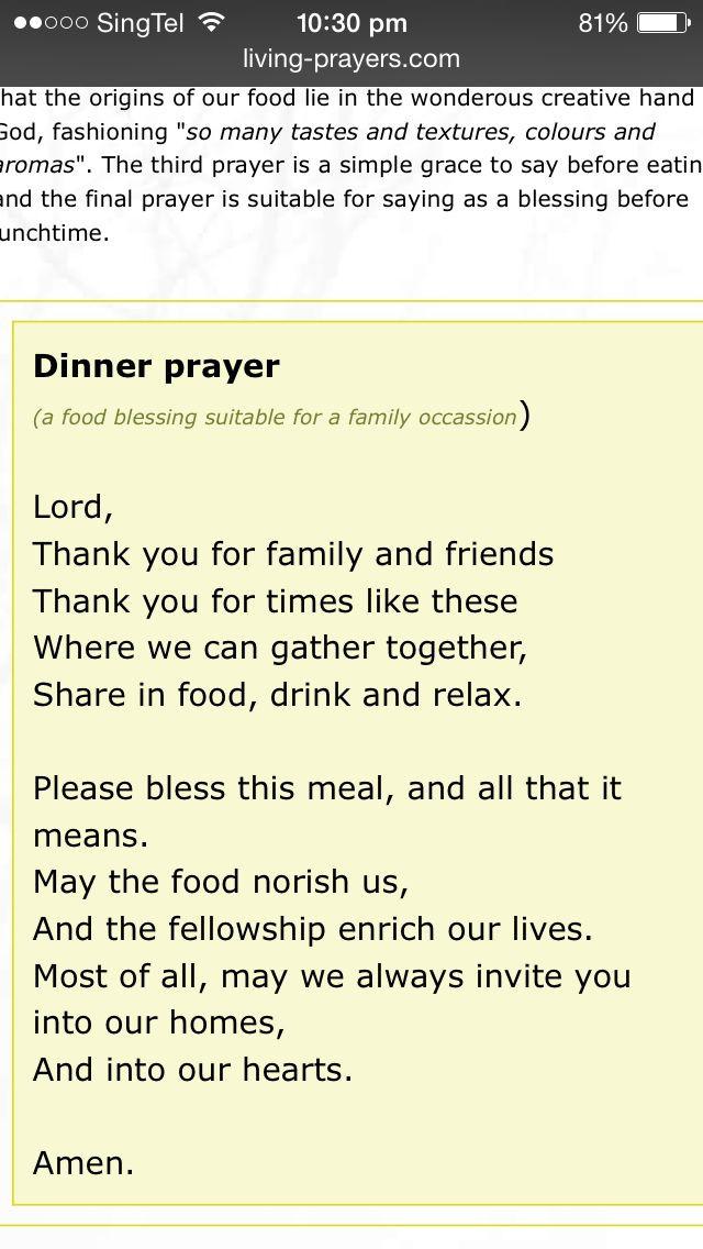 Prayer For Easter Dinner  Yli tuhat ideaa Dinner Prayer Pinterestissä
