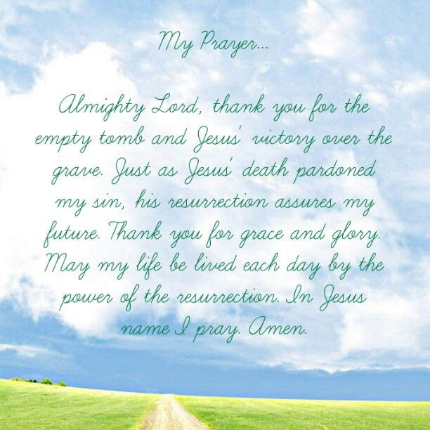 Prayer For Easter Sunday Dinner  Almighty God thank You for the empty tomb