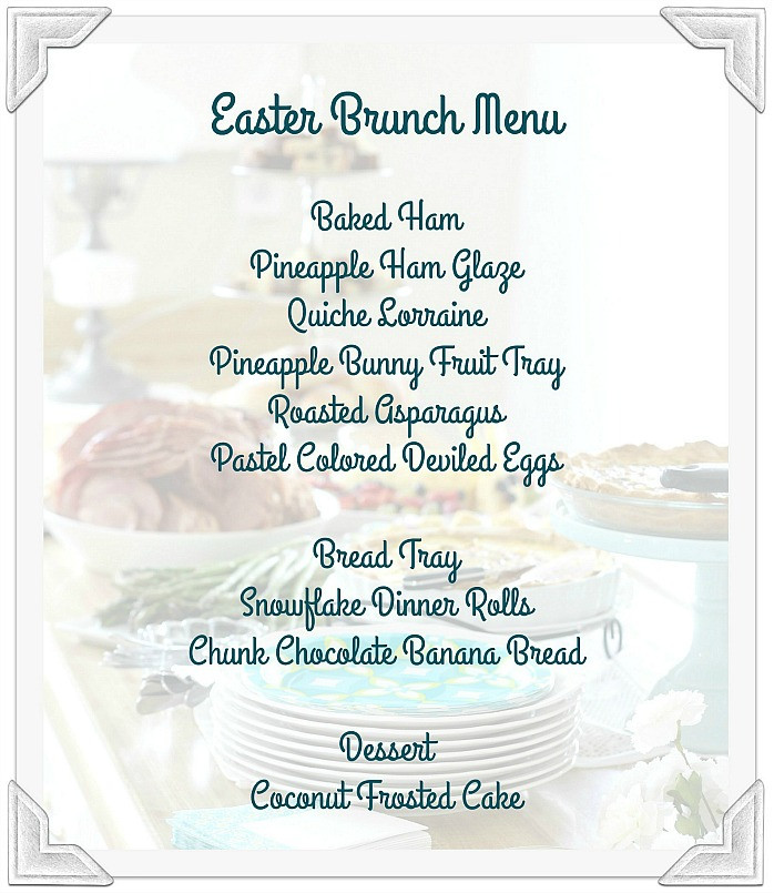 Prayers For Easter Sunday Dinner  Easter Brunch Menu Grateful Prayer