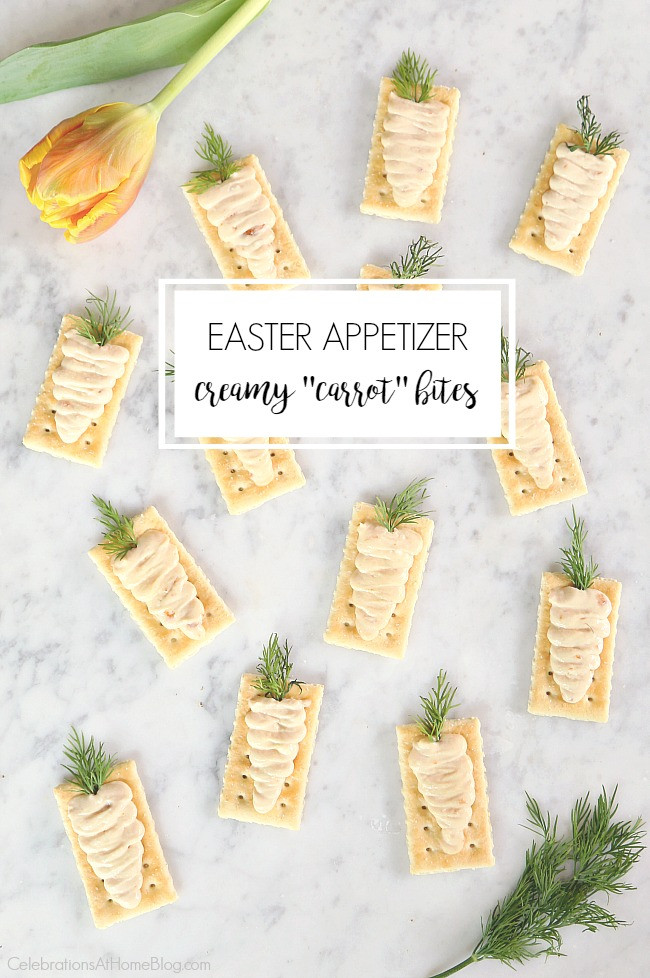 Pre Made Easter Dinner  Easter Appetizers Creamy Carrot Bites Celebrations at Home