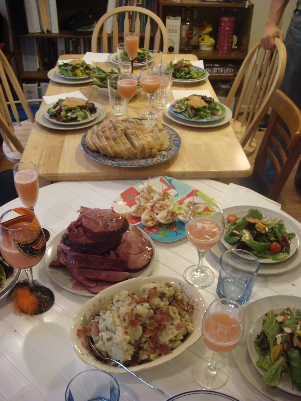 Pre Made Easter Dinner  A Food Dilettante s Musings Pre Easter Pot Luck Dinner