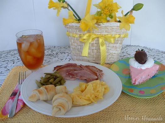 Preparing Easter Dinner  Easter Dinner and Our Menu Plan Hoosier Homemade