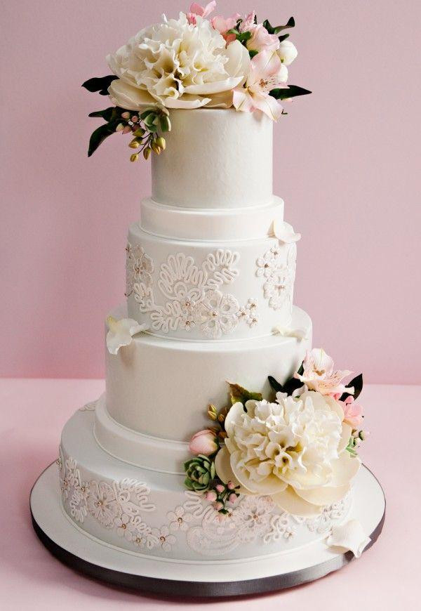 Prettiest Wedding Cakes  PRETTIEST WEDDING CAKES WITH EXQUISITE DETAILS Weddbook