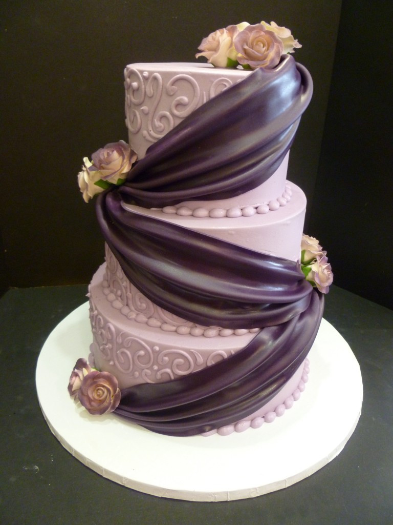 Price On Wedding Cakes  Purple wedding cakes with prices idea in 2017
