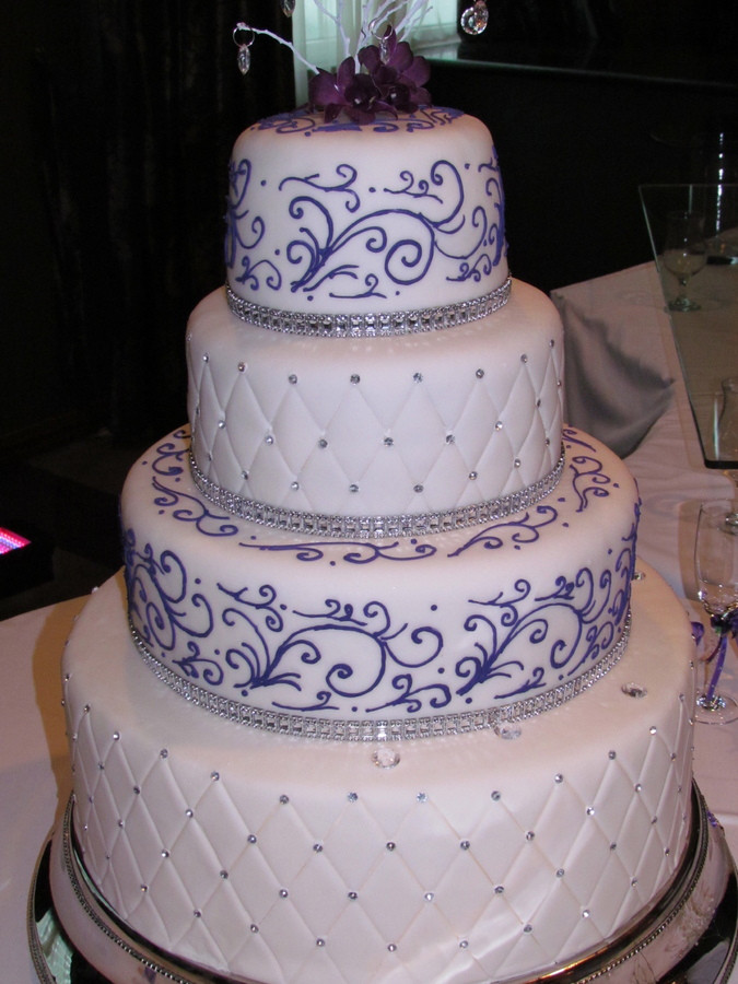 Prices For Wedding Cakes  Purple wedding cakes with prices idea in 2017