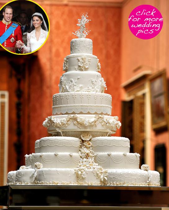 Prince William Wedding Cakes  Kate Middleton & Prince William s Wedding Cake 8 Tiers