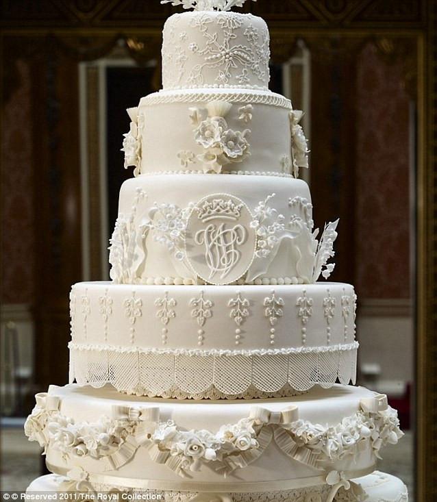 Prince William Wedding Cakes  From diamond encrusted sponge to Kim Kardashian s £12 000