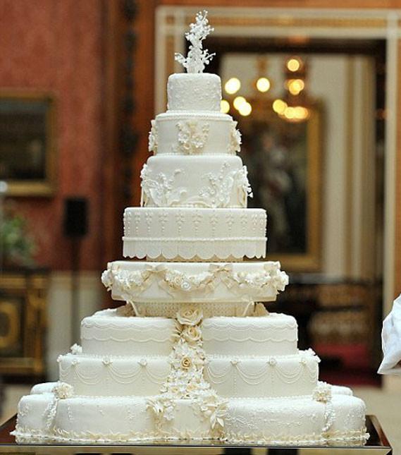 Prince William Wedding Cakes  Kate Middleton and Prince William's Wedding Cake