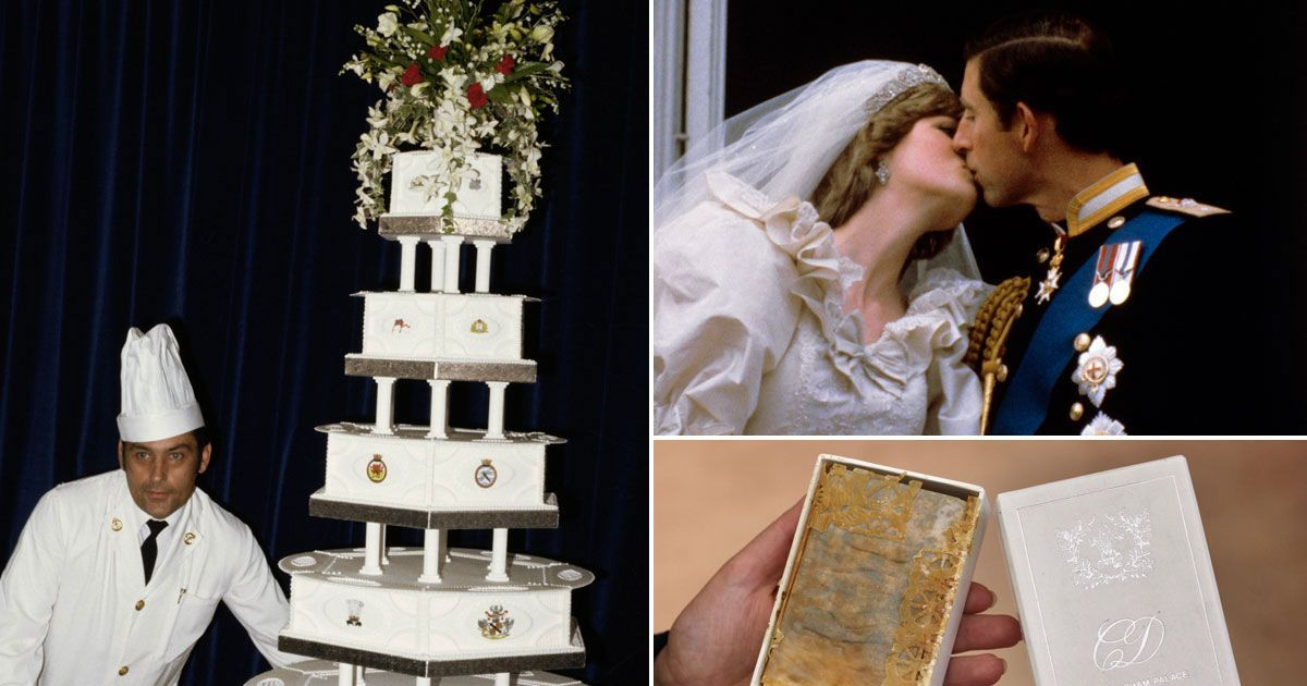 Princess Diana Wedding Cakes  Princess Diana s wedding cake set to sell for £2 600 and