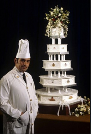 Princess Diana Wedding Cakes  Princess Diana and Prince Charles Wedding Cake Auctioned