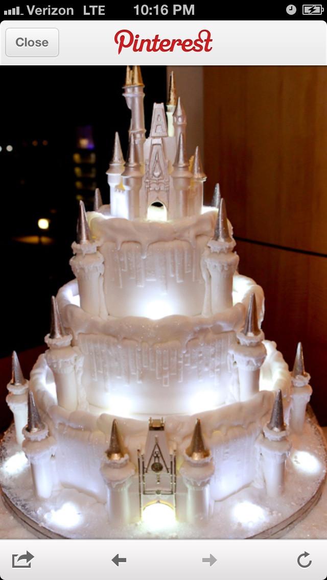 Princess Wedding Cakes  Princess castle wedding cake Wedding