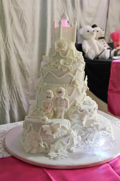 Princess Wedding Cakes  6 Tier White Princess Wedding Cake by Cakey