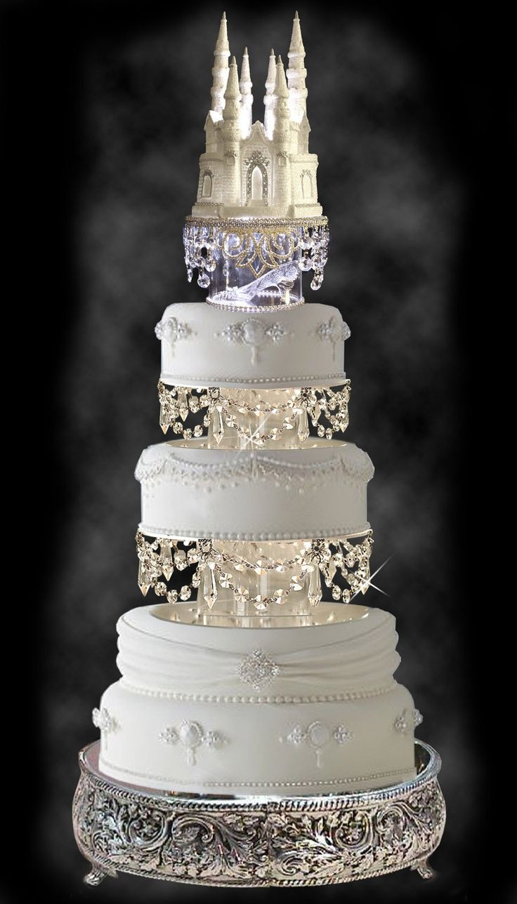 Princess Wedding Cakes  Royal wedding cakes Cinderella castle and Wedding cakes