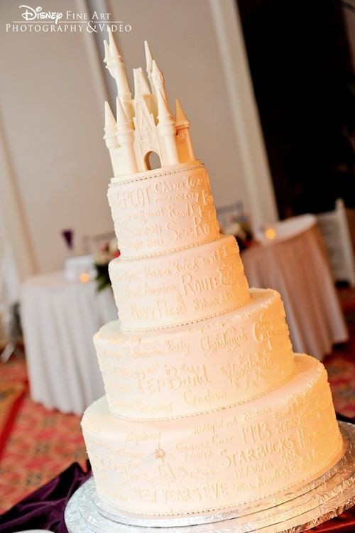 Princess Wedding Cakes  Disney princess wedding cake If you just add the