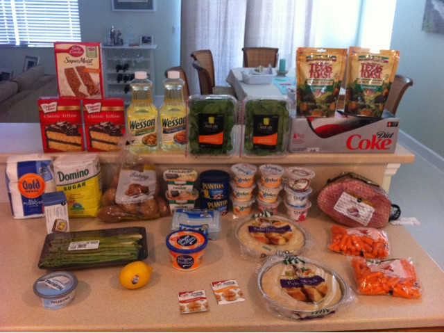 Publix Easter Dinner  Tobins Tastes Weekly Shopping Totals Link Up Saved $75