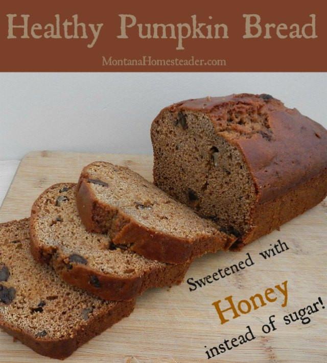 Pumpkin Bread Recipe Healthy  Healthy Pumpkin Bread Montana Homesteader