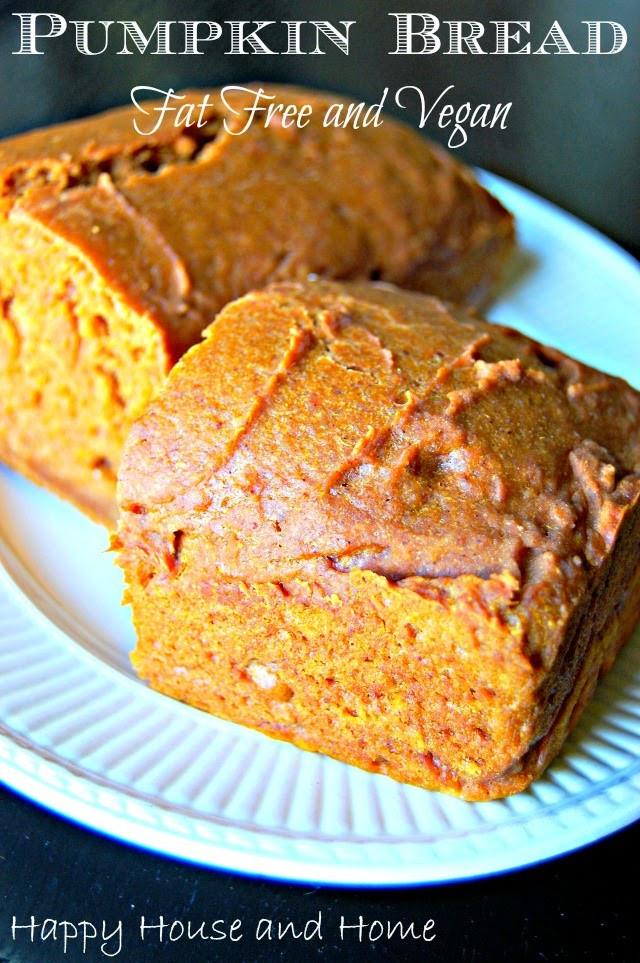 Pumpkin Bread Recipe Healthy  Happy House and Home Pumpkin Bread Healthy Fat Free Vegan
