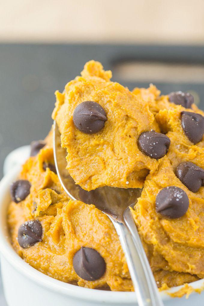 Pumpkin Cookie Recipes Healthy  Healthy Pumpkin Cookie Dough for e Paleo Vegan Gluten