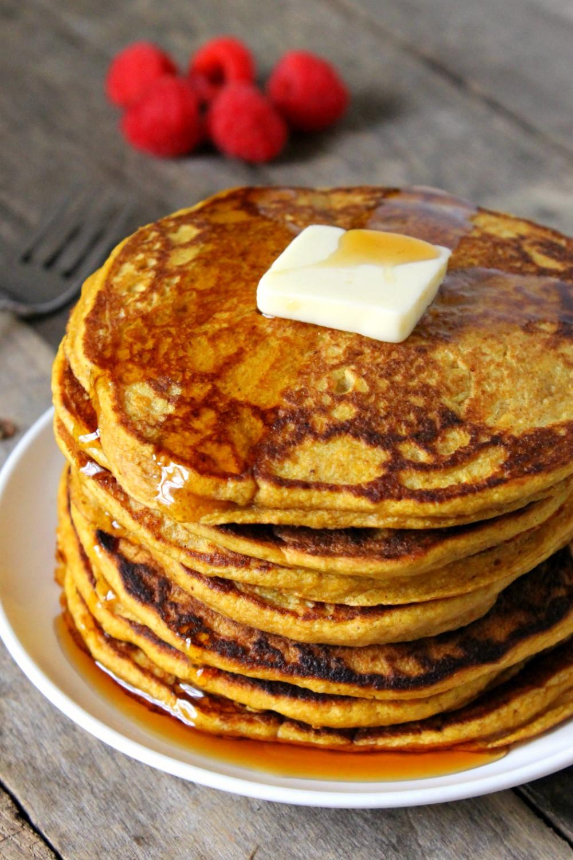 Pumpkin Pancakes Healthy  Healthy Whole Wheat Pumpkin Pancakes
