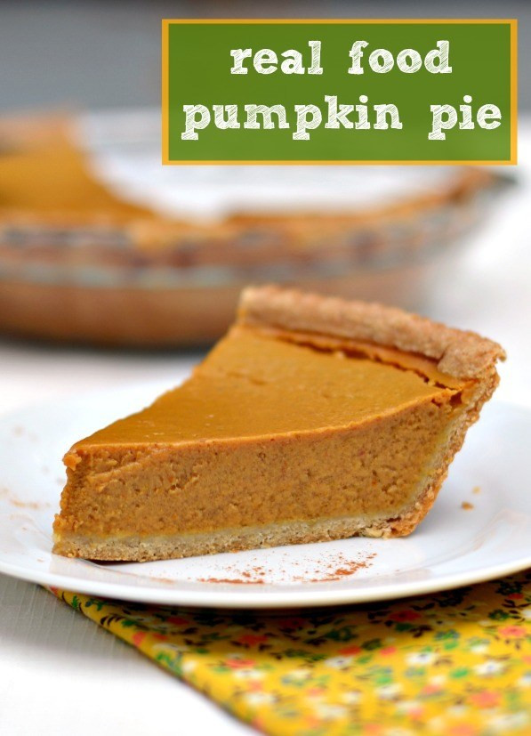 Pumpkin Pie Recipes Healthy  Healthy Pumpkin Pie Recipe Real Food Real Deals