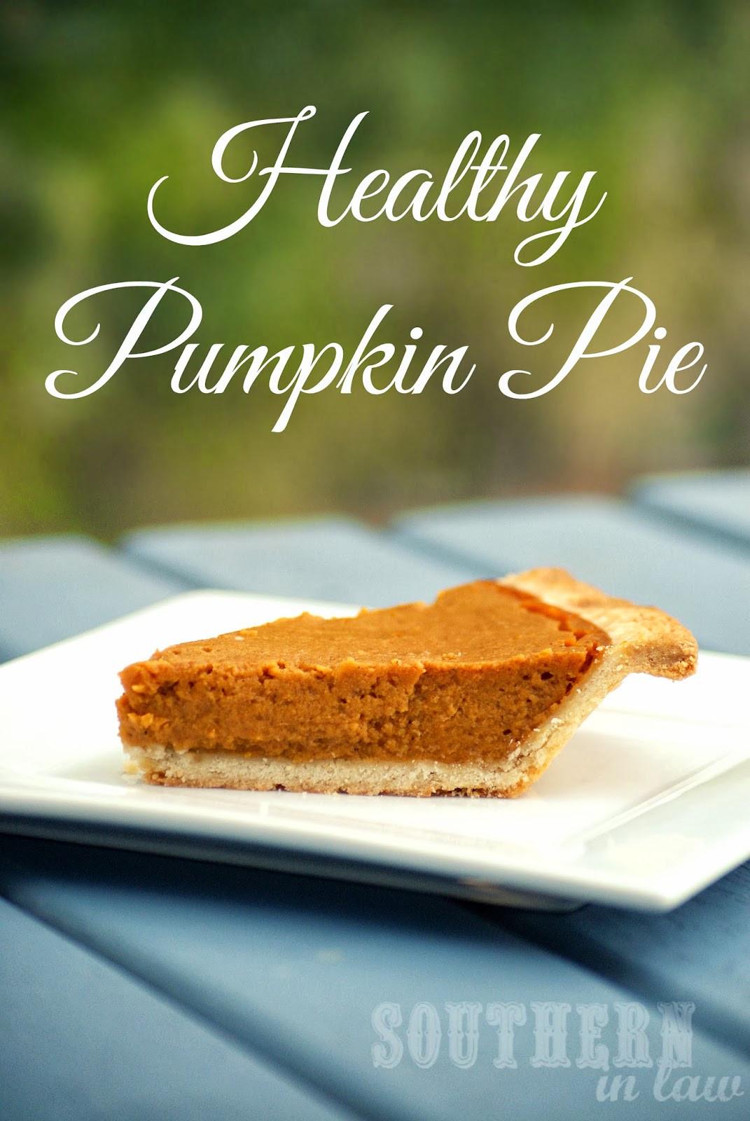 Pumpkin Recipes Healthy  Southern In Law Healthy Pumpkin Pie Recipe